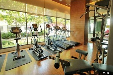 gym at bright condo units for rent 1 bedroom