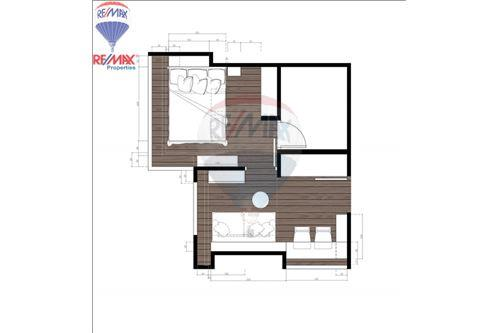 RE/MAX Properties Agency's FOR RENT The Lumpini 24 1BED 30SQM. 12